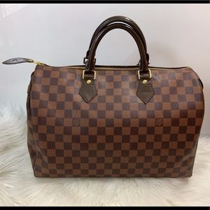 100% Authentic Louis Vuitton Damier Speedy 35